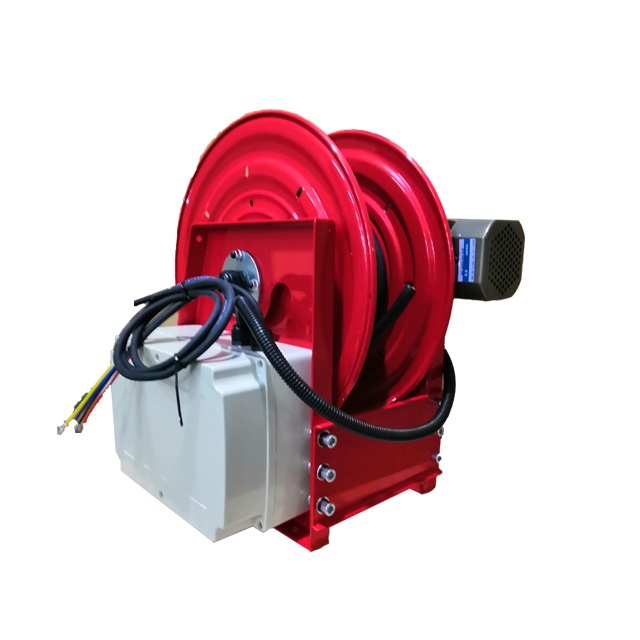 Electric motor rewind cable reels